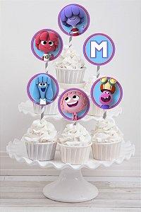 Embalagem com 20 toppers para cupcake Jelly Jamm