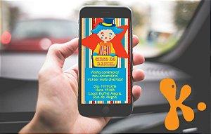 Convite personalizado para WhatsApp Circo