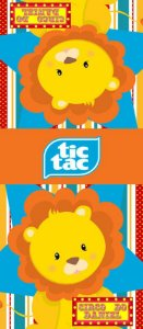 Adesivo personalizado para TicTac Circo