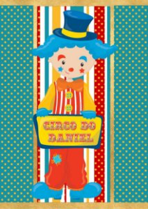 Adesivo personalizado para bisnaguinha de brigadeiro Circo
