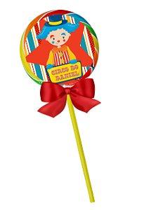 Adesivo personalizado para pirulito Circo