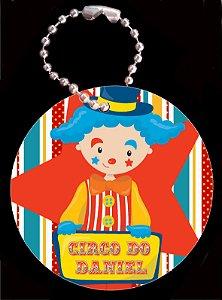 Tag com Correntinha 5 x 5 cm Circo