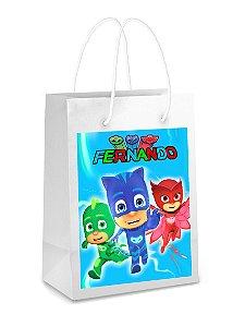 Adesivo para sacolinha perdonalizado PJ Masks – Heróis de Pijama