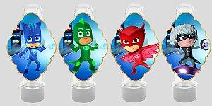 Embalagem com 8 apliques para Tubete PJ Masks – Heróis de Pijama