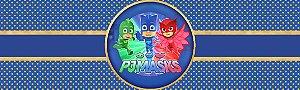 Rótulo água PJ Masks – Heróis de Pijama