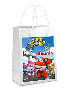Adesivo para sacolinha perdonalizado Super Wings
