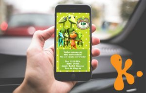 Convite personalizado para WhatsApp Dinotrem