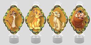 Embalagem com 8 apliques para Tubete Rei Leão