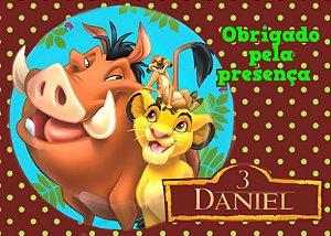 Cartão de Agradecimento Rei Leão