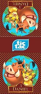 Adesivo personalizado para TicTac Rei Leão
