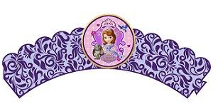 Pacote com 6 Wrappers personalizados Princesa Sofia