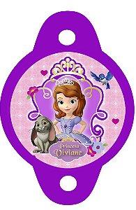 Tag para canudinho Princesa Sofia