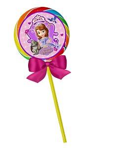 Adesivo personalizado para pirulito Princesa Sofia