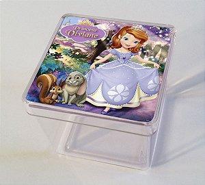 Adesivo caixinha acrílica 5x5cm Princesa Sofia