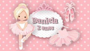 Adesivo personalizado para Bolinha de Sabão Bailarina