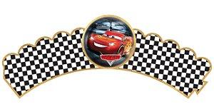 Pacote com 6 Wrappers personalizados Carros da Disney