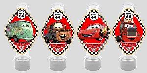 Embalagem com 8 apliques para Tubete Carros da Disney