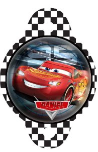Tag para canudinho Carros da Disney