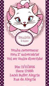 Convite personalizado para WhatsApp Gatinha Marie