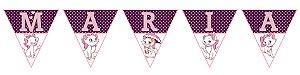 Bandeirinha Personalizada Gatinha Marie