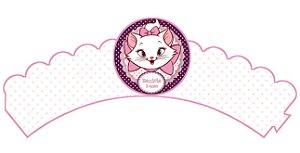 Pacote com 6 Wrappers personalizados Gatinha Marie