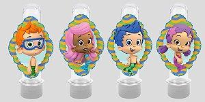 Embalagem com 8 apliques para Tubete Bubble Guppies