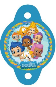 Tag para canudinho Bubble Guppies