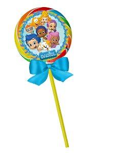 Adesivo personalizado para pirulito Bubble Guppies