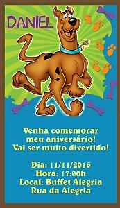 Convite personalizado para WhatsApp Scooby Doo