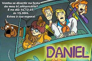 Convite digital personalizado Scooby Doo