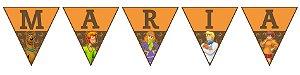 Bandeirinha Personalizada Scooby Doo
