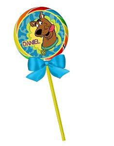 Adesivo personalizado para pirulito Scooby Doo