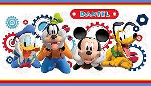 Adesivo personalizado para Bolinha de Sabão A Casa do Mickey Mouse