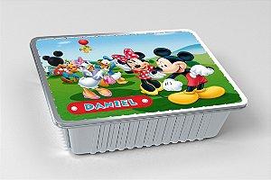 Tampa para marmitinha personalizada A Casa do Mickey Mouse