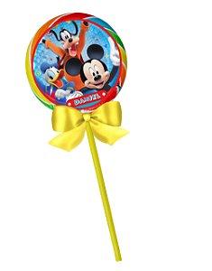 Adesivo personalizado para pirulito A Casa do Mickey Mouse