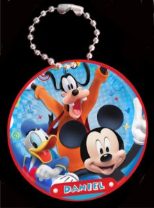 Tag com Correntinha 5 x 5 cm A Casa do Mickey Mouse