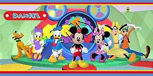 Adesivo para cofrinho personalizado A Casa do Mickey Mouse