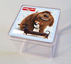 Adesivo caixinha acrílica 5x5cm Pets - A Vida Secreta dos Bichos