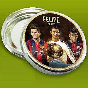 Embalagem com 20 adesivos Neymar,Messi e Cristiano Ronaldo