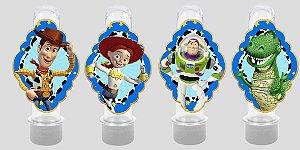 Embalagem com 8 apliques para Tubete Toy Story