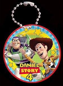 Tag com Correntinha 5 x 5 cm Toy Story