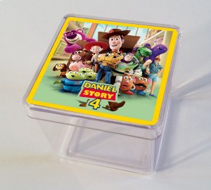 Adesivo caixinha acrílica 5x5cm Toy Story