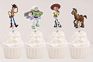 Embalagem com 20 toppers recortados para docinhos Toy Story