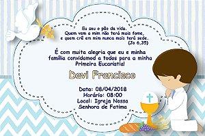 Convite digital personalizado Comunhão 057