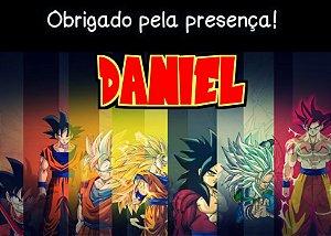Cartão de Agradecimento Dragon Ball Z