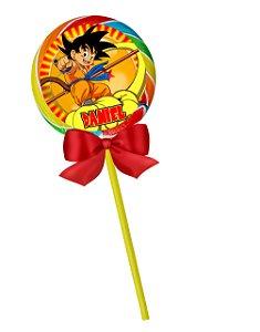Adesivo personalizado para pirulito Dragon Ball Z