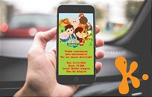 Convite personalizado para WhatsApp Sítio do Pica-Pau Amarelo