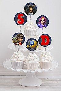 Embalagem com 20 toppers para cupcake Zak Storm