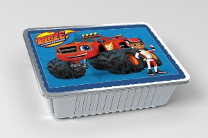 Tampa para marmitinha personalizada Blaze and the Monster Machine