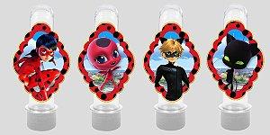 Embalagem com 8 apliques para Tubete Miraculous: As Aventuras de Ladybug